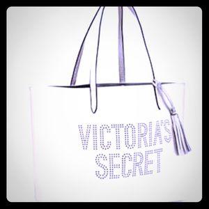 White Victoria secret tote 👜